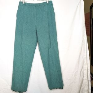 Pendleton 100% Virgin Wool Teal Lined Pants